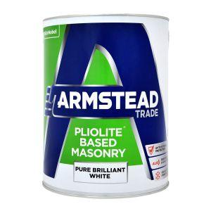Armstead Pliolite Based Masonry Paint Brilliant White 5L