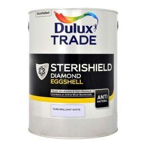 Dulux Trade Sterishield Diamond Eggshell Pure Brilliant White 5L