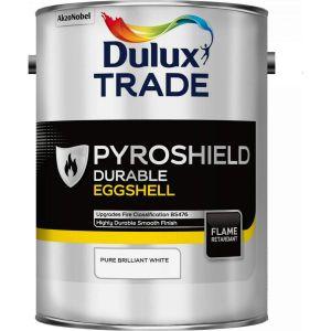 Dulux Trade Pyroshield Eggshell Pure Brilliant White 5L