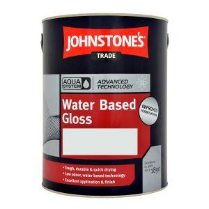 Johnstones Aqua Waterbased Gloss Black