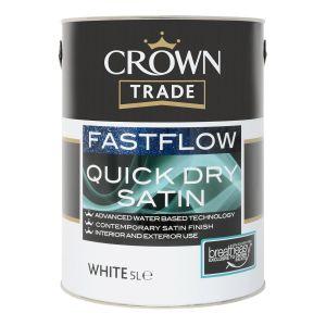 Crown Trade Fastflow Quick Dry Satin White