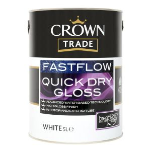 Crown Trade Fastflow Quick Dry Gloss White