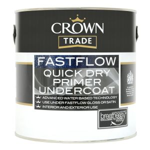 Crown Trade Fastflow Quick Dry Primer Undercoat (all colours)