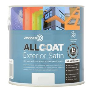 Zinsser Allcoat Exterior SB Satin Black