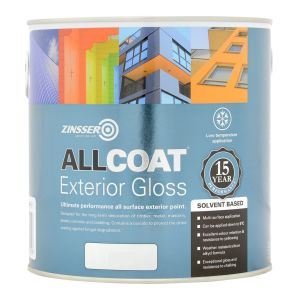 Zinsser Allcoat Exterior Gloss Solvent Based Colours