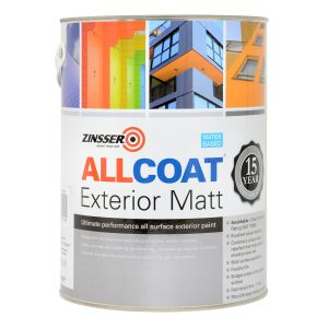 Zinsser Allcoat Exterior WB Matt Black