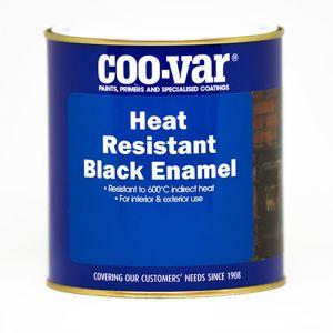 Coo-Var Heat Resistant Black Satin Enamel