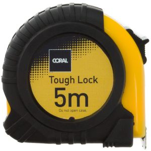 Coral Tough Lock 5m Tape Measure