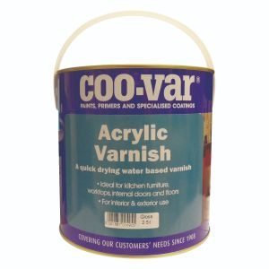 Coo-Var Quick Drying Acrylic Varnish Eggshell Clear