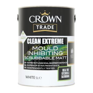 Crown Trade Clean Extreme Mould Inhibiting Matt White