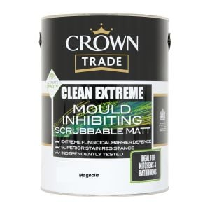 Crown Trade Clean Extreme Mould Inhibiting Matt Magnolia 5L