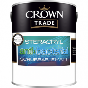 Crown Trade Steracryl Anti Bacterial  Scrubbable Matt Colours