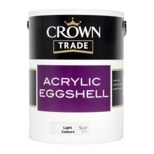 Crown Trade Acrylic Eggshell Colours 5l ( Light Colours Only )