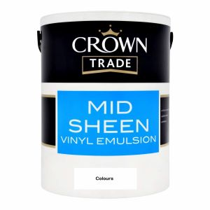 Crown Trade Mid Sheen Colours