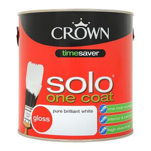 Crown Solo One Coat Gloss Brilliant White 2.5l