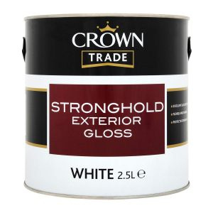 Crown Trade Stronghold Gloss White 2.5l