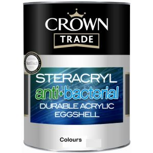 Crown Trade Steracryl Anti Bacterial Acrylic Eggshell Colours 5l