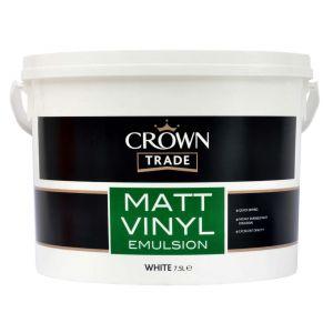Crown Vinyl Matt White 7.5L