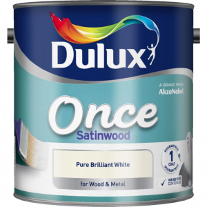 Dulux Once Satinwood Brilliant White