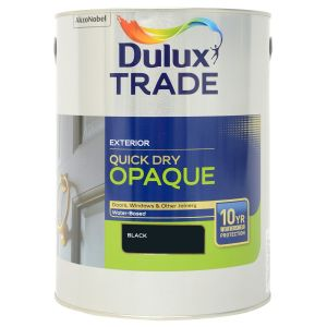 Dulux Trade Weathershield Quick Dry Opaque Black