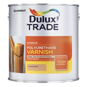 Dulux Trade Polyurethane Varnish Clear Matt 2.5L