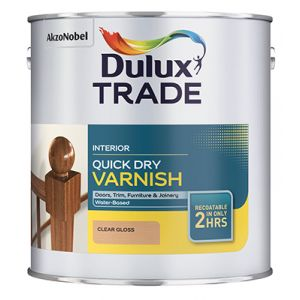 Dulux Trade Quick Dry Varnish Clear Satin