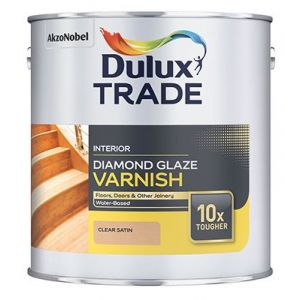 Dulux Trade DIamond Glaze Varnish Clear Satin