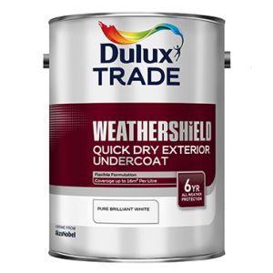 Dulux Weathershield Quick Dry Undercoat Pure Brilliant White