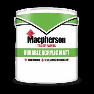 Macpherson Acrylic Durable Matt Brilliant White