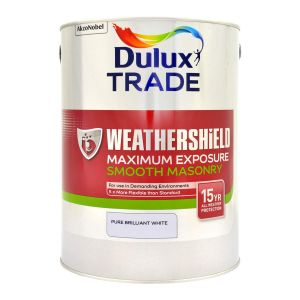 Dulux Maximum Exposure Smooth Masonry Pure Brilliant White 5L