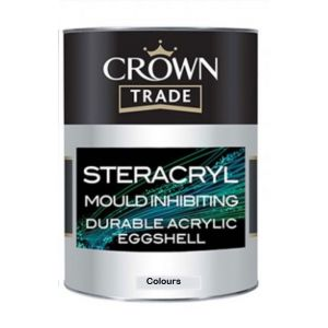 Crown Trade Steracryl Mould Inhibiting Acrylic Eggshell Colours