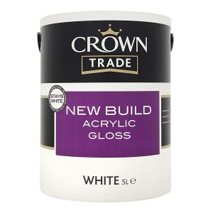 Crown Trade New Build Acrylic Gloss White 5l