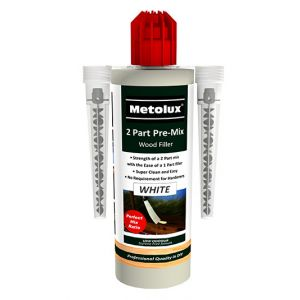 Metolux 2 Part Pre-Mix SF Wood Filler 300G With 2 Nozzles