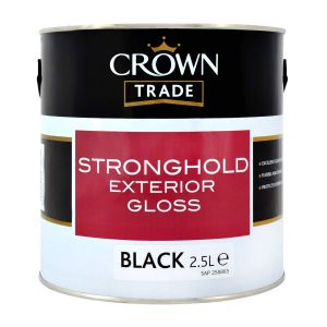 Crown Trade Stronghold Gloss Black 2.5l