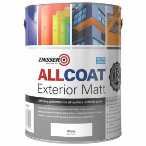 Zinsser Allcoat Exterior Matt W/B Colours