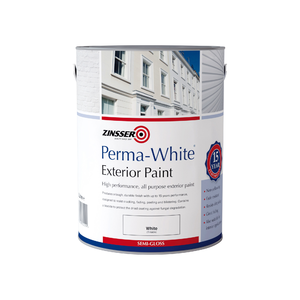 Zinsser Permawhite Interior/Exterior Semi Gloss Colours