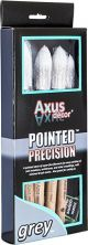 Axus Grey Pointed Precision Sash Paint Brush 4 Pack