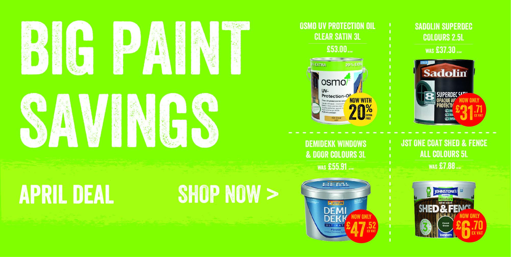 The Paint Dhed - April Paint Deals