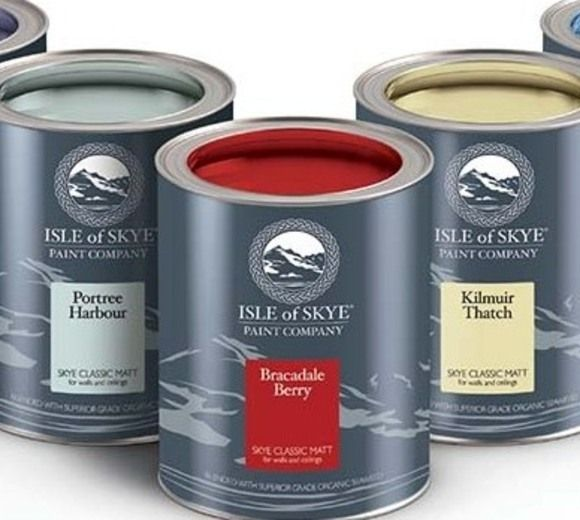 Isle of Skye Paint tins