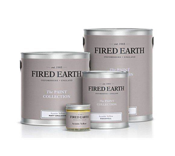 Tins of fired earth tins